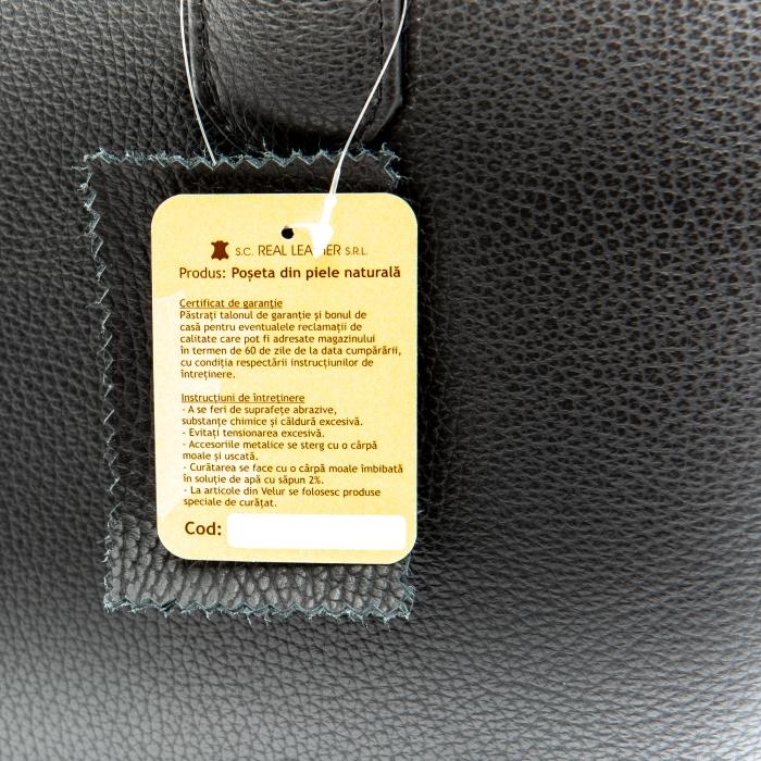 Poseta din piele naturala - BOX