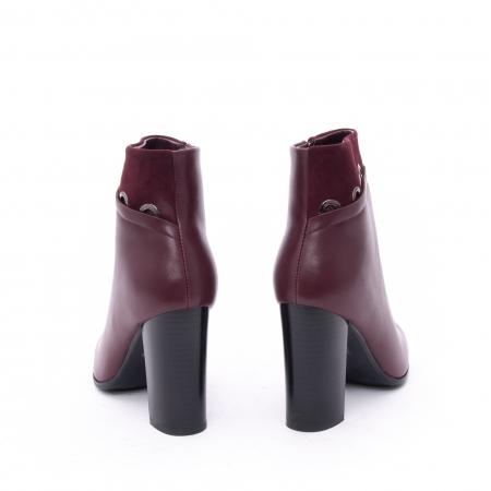 Botine elegante dama VN9327-3 burgundy
