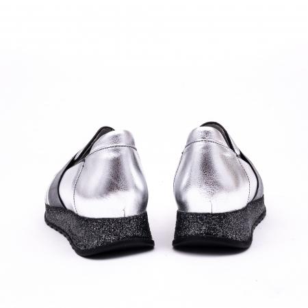Pantof casual 191652 gri argintiu