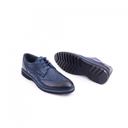 Pantof casual model Oxford CataliShoes 181584CR bleumarin