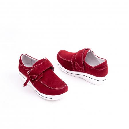 Pantof casual dama marca Angel Blue F002-56 burgundy suede