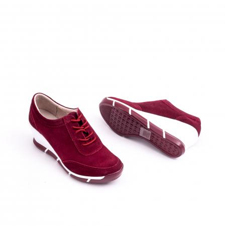 Pantof casual Angel Blue VK-F001-441 burgundy suede