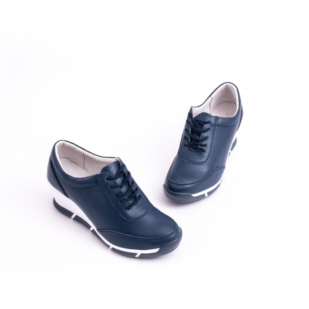 Pantof casual Angel Blue VK-F001-441 navy leather