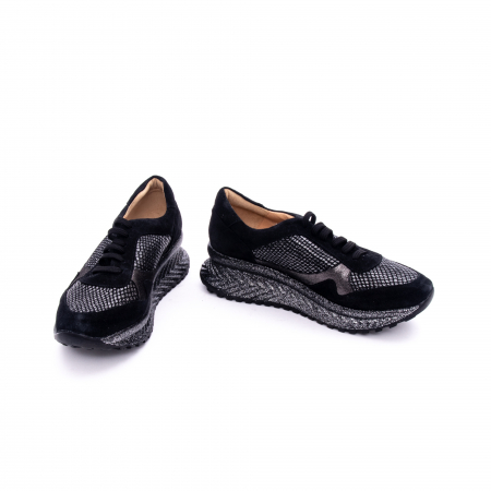 Pantof casual dama marca Nike Invest 1192 negru argintiu