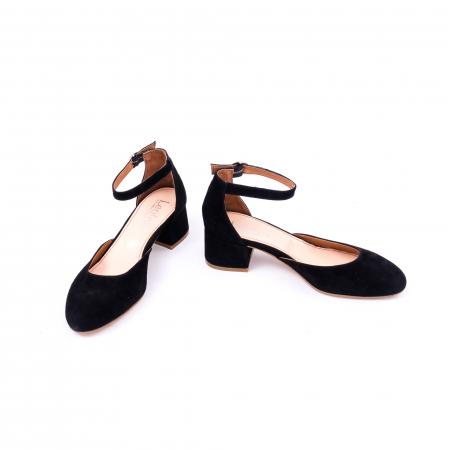 Pantofi decupati dama LFX  221 negru velur