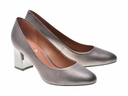 Pantofi EPICA gri, OE7122-337-455, din piele naturala