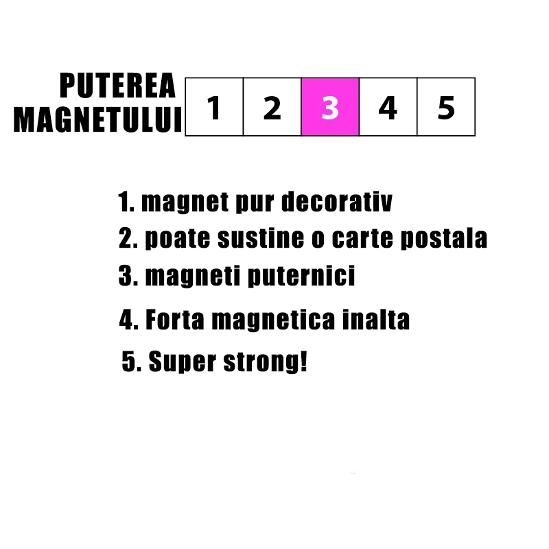 Magnet  - cuvinte - EXPRESSION MOTIVATION (6 buc/set)