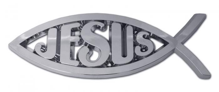 Emblema auto peste - Jesus