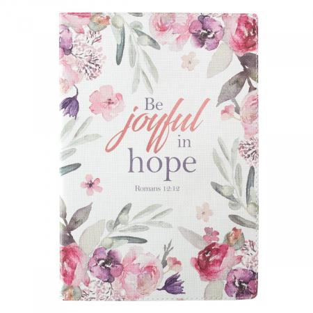 Jurnal din piele - Be joyful in Hope - Romans 12:12