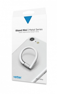 iStand Mini | Desk Stand and Smart Grip | Metal Series | Silver