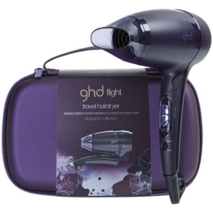Uscator profesional de par GHD Nocturne Flight Travel, 65°C, Tehnologie Safeguard, 3 viteze, Negru