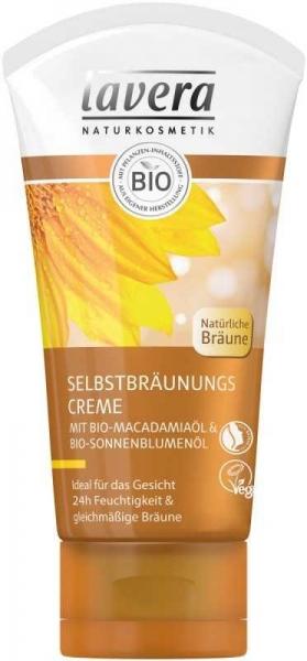 Crema autobronzanta pentru ten cu ulei de macadamia, 50 ml - LAVERA
