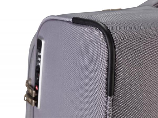 SET Trolere TITAN - SPOTLIGHT Textil 4 roti duble S,M,L- Gri Sorbet/Multicolor