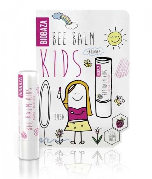 Balsam de buze pentru copii cu zmeura - BIOBAZA