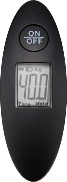 Cantar digital bagaje negru 40kg compact, cu dispozitiv LCD