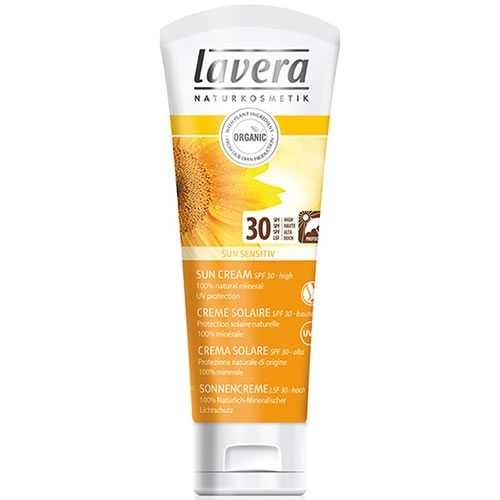 Crema protectie solara inalta FPS 30, piele sensibila, 75 ml - LAVERA