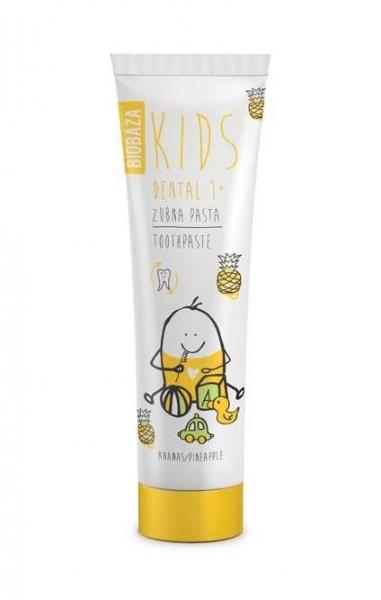 Pasta de dinti naturala pentru copii 1  cu aroma de ananas, 75 ml - BIOBAZA