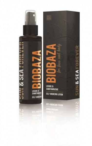 Lotiune autobronzanta cu extract de morcov si unt de cacao, 150 ml - BIOBAZA