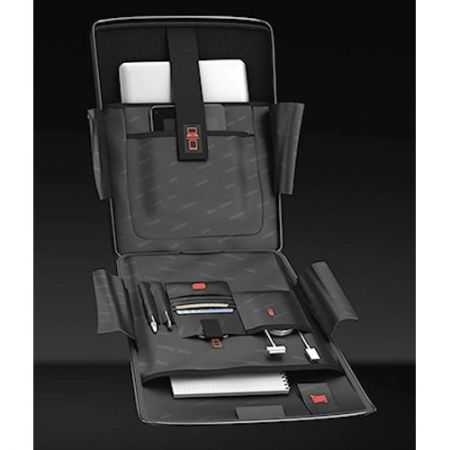 Troler Laptop Roncato Double, Negru/Lime