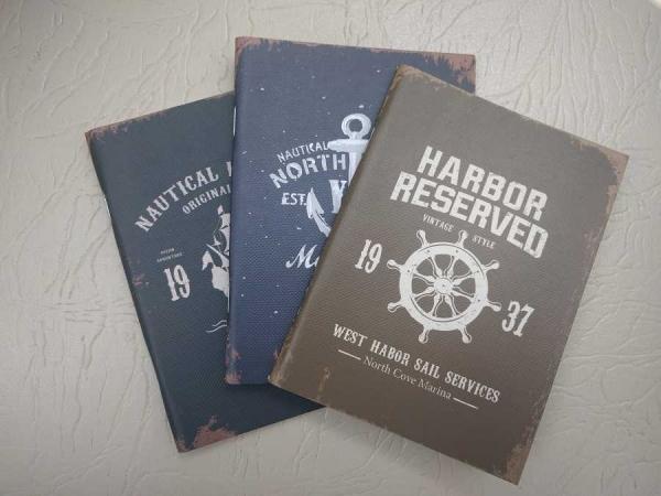 Notebook 24 file motive Navy Harbor Reserved