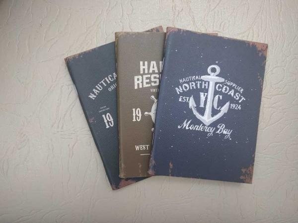 Notebook 24 file motive Navy North Coast