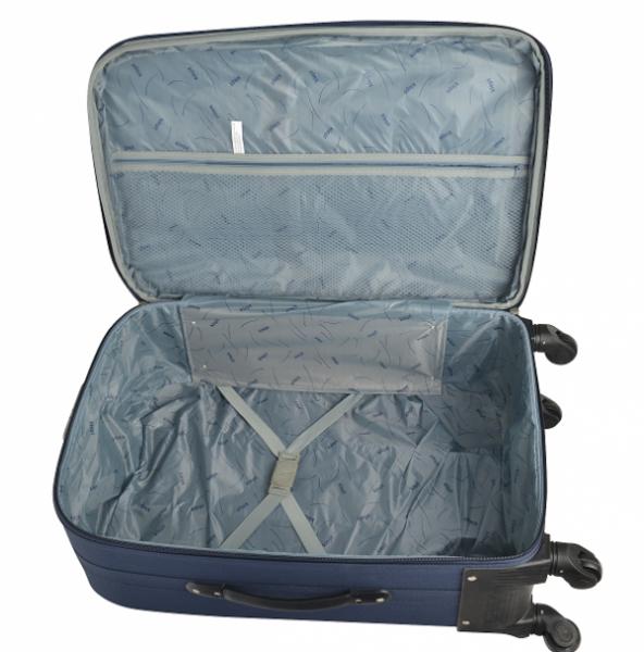 Klept Troler textil 4 roti FLY-65 Albastru cu verde
