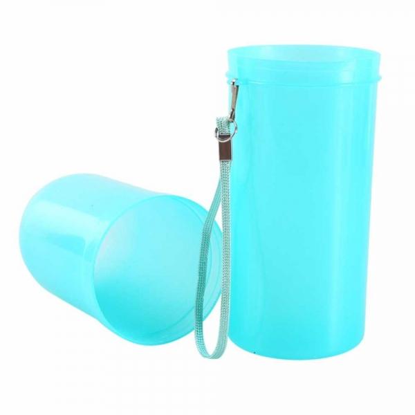 Recipient pentru periuta si pasta de dinti - Albastru