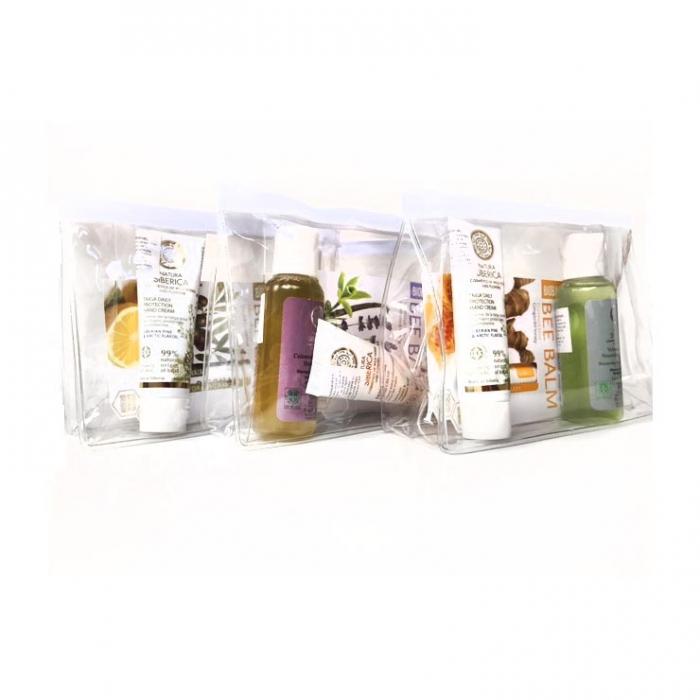 Set cosmetice cu gentuta cosmetice cadou (sampon, crema de maini, balsam de buze Rodie)