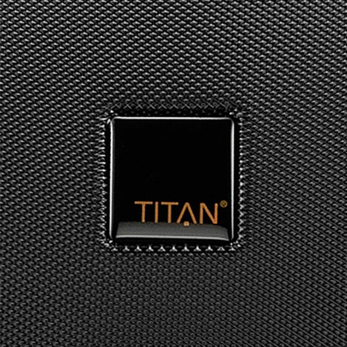 Troler de cabina TITAN XENON 4 roti - Business Wheeler - Negru