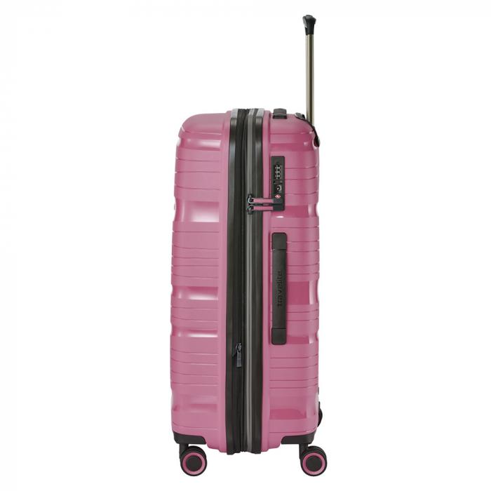 Troler de cala Travelite MOTION 4 roti M - Roz