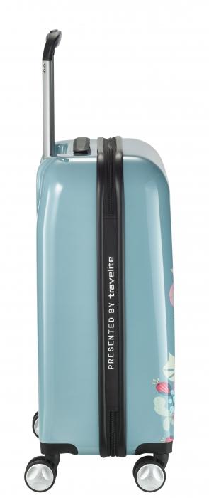 Troler LIL'LEDY 4 roti duble  S - 54 cm, albastru pudrat - inbagaj