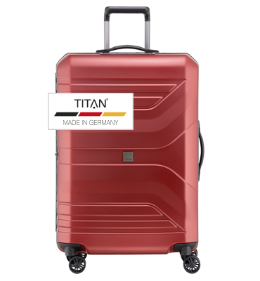 Troler TITAN PRIOR 4w  L Rosu - resigilat
