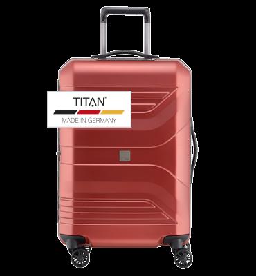 Troler TITAN PRIOR 4w  M Rosu - resigilat