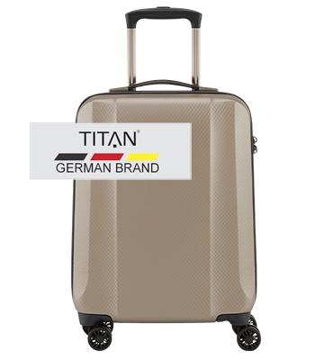 Troler TITAN XENON DELUXE 4 roti 55 cm Bej Champagne0