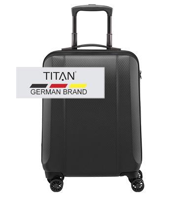 Troler TITAN XENON DELUXE 4 roti 55 cm Grafit