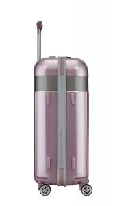 Troler TITAN - SPOTLIGHT 4 roti duble M - 67 cm- Roz