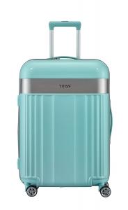 Troler TITAN - SPOTLIGHT 4 roti duble M - 67 cm- Verde Mint