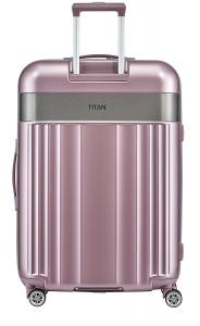Troler TITAN - SPOTLIGHT 4 roti duble L - 76 cm- Roz