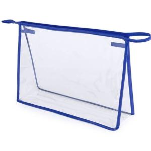 Geanta cosmetice transparenta - Contur Albastru