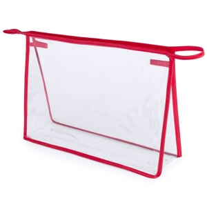 Geanta cosmetice transparenta - Contur Rosu