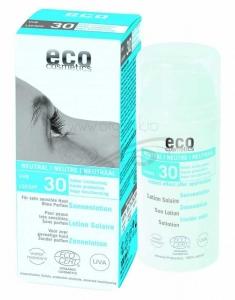 Lotiune fluida de protectie solara FPS30 FARA PARFUM, 100 ml - Eco Cosmetics