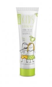 Pasta de dinti naturala pentru copii 6  cu aroma de mar verde, 75 ml - BIOBAZA