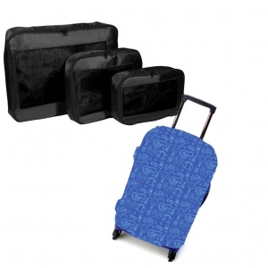 Set travel - Packing cubes si Husa troler