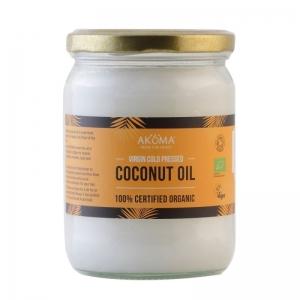 Ulei de cocos virgin certificat organic, presat la rece, 500 ml - Akoma Skincare