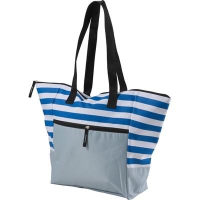Geanta de plaja alb-bleu