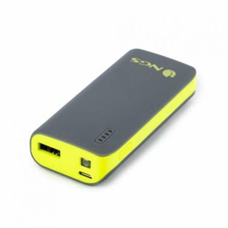 Acumulator portabil powerbank 4000mAh 5V 1A, negru/galben