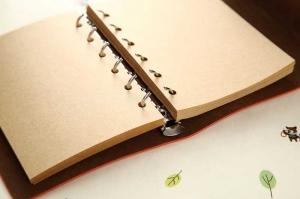 Agenda/Notebook Vintage de calatorie piele ecologica maro deschis