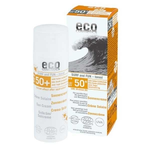 Crema bio cu protectie solara FPS 50  extra-rezistenta la apa, SURF & FUN - Eco Cosmetics