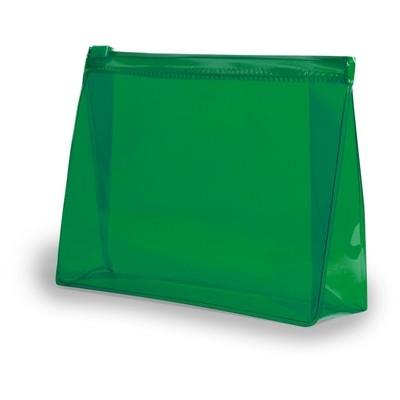 Geanta cosmetice transparenta verde