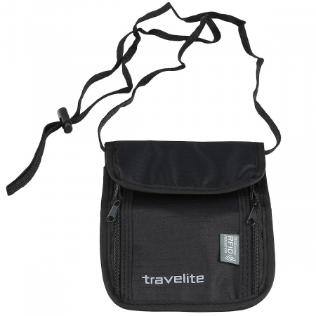 Geanta-portofel Travelite cu protectie RFID - Negru